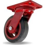 Hamilton® Heavy Service Swivel 6 x 2 Mold-On Rubber Roller 410 Lb. Caster
