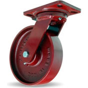 Heavy Service 4-1/2x6-1/2 Swivel 8x2 Metal Ball 1500lb Caster