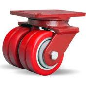 Heavy Service 4-1/2x6-1/2 Swivel 4x2 Swivel-EAZ® Ball 1700lb Dual Caster