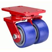 Heavy Service 4-1/2x6-1/2 Swivel 6x2 Plastex Roller 2400lb Dual Caster