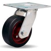 Hamilton® Medium Service Swivel 5 x 2 Mold-On Rubber Roller 350 Lb. Caster