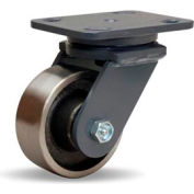 Workhorse Forged 4x5 Swivel 4x1-1/2 Forged Roller 1400lb Caster
