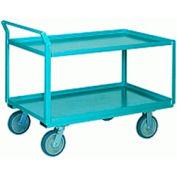 Steel Shelf Truck 30x60 Pneumatic Wheels 1000 lbs