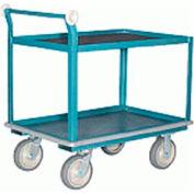 Steel Shelf Truck with Mats 30x60 Super-Flex Wheels 1000 lbs