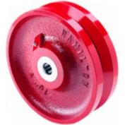 """Hamilton® V-Groove Wheel 4 x 1-1/2 - 3/4"""" Roller Bearing"""