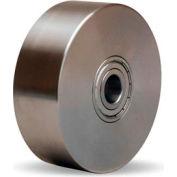 "Stainless Steel Wheel 4x1-3/8 1/2"" Ball Bearing"