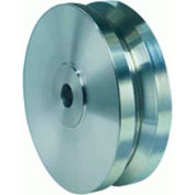 "Stainless V-Groove Wheel 5x2 3/4"" Plain Bearing"