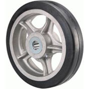 "Rubber On Aluminum 6x2 1"" Roller Bearing"