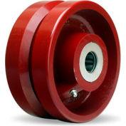 """V-Groove Wheel 6x2-3/4 1"""" Roller Bearing"""