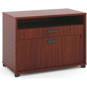 "basyx by HON® Manage File Center, 1 Shelf / 2 Drawers, 30""W, Chestnut Finish"