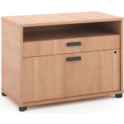 "basyx by HON® Manage File Center, 1 Shelf / 2 Drawers, 30""W, Wheat Finish"