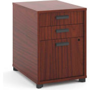 """basyx by HON® Manage Pedestal File, 3 Drawers, 22""""D, Chestnut Finish"""