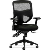 basyx® by HON® HVL530 Series Adjustable Arm High-Back Executive Chair, Black Mesh