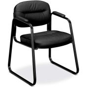 basyx® by HON® BSXVL653SB11 HVL653 Series Fixed Arm Guest Chair, Black