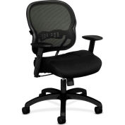 basyx® by HON® BSXVL712MM10 HVL700 Series Adjustable Arm Managerial Chair, Black Mesh