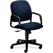 HON® HON4001AB90T Solutions 4000 Series Fixed Loop Arm High-Back Executive Chair, Blue Olefin