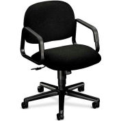 HON® HON4002AB10T Solutions 4000 Series Fixed Loop Arm Mid-Back Managerial Chair, Black Olefin