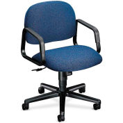 HON® HON4002AB90T Solutions 4000 Series Fixed Loop Arm Mid-Back Managerial Chair, Blue Olefin