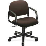 HON® HON4002CU49T Solutions 4000 Series Fixed Loop Arm Mid-Back Managerial Chair, Espresso
