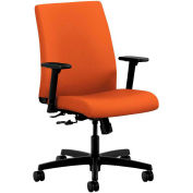 HON® HONIT105CU46 Ignition Adjustable Arm Low-Back Task Chair, Tangerine Polyester