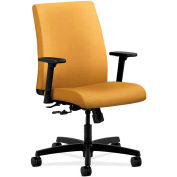 HON® HONIT105NR26 Ignition Adjustable Arm Low-Back Task Chair, Mustard Polyester