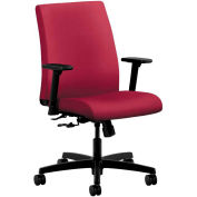 HON® HONIT105NR60 Ignition Adjustable Arm Low-Back Task Chair, Mulberry Polyester