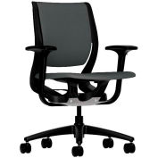 HON® HONRW101ONCU19 Purpose Adjustable Arm Mid-Back Task Chair, Iron Ore Polyester