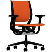HON® HONRW101ONCU46 Purpose Adjustable Arm Mid-Back Task Chair, Tangerine Polyester