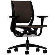 HON® HONRW101ONCU49 Purpose Adjustable Arm Mid-Back Task Chair, Espresso Polyester