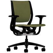 HON® HONRW101ONCU82 Purpose Adjustable Arm Mid-Back Task Chair, Olivine Polyester