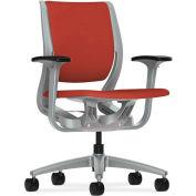 HON® HONRW101PTCU42 Purpose Adjustable Arm Mid-Back Task Chair, Poppy/Platinum