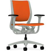 HON® HONRW101PTCU46 Purpose Adjustable Arm Mid-Back Task Chair, Tangerine Polyester