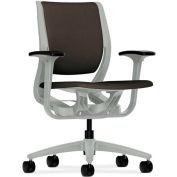 HON® HONRW101PTCU49 Purpose Adjustable Arm Mid-Back Task Chair, Espresso Polyester