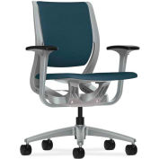 HON® HONRW101PTCU90 Purpose Adjustable Arm Mid-Back Task Chair, Cerulean/Platinum