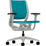HON® HONRW101PTCU96 Purpose Adjustable Arm Mid-Back Task Chair, Glacier Polyester