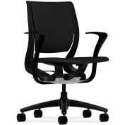 HON® HONRW102ONCU10 Purpose Fixed Arm Mid-Back Task Chair, Black Polyester