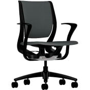 HON® HONRW102ONCU19 Purpose Fixed Arm Mid-Back Task Chair, Iron Ore Polyester