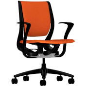 HON® HONRW102ONCU46 Purpose Fixed Arm Mid-Back Task Chair, Tangerine Polyester