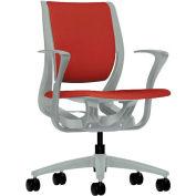 HON® HONRW102PTCU42 Purpose Fixed Arm Mid-Back Task Chair, Poppy Polyester