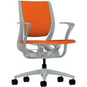 HON® HONRW102PTCU46 Purpose Fixed Arm Mid-Back Task Chair, Tangerine Polyester