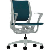 HON® HONRW102PTCU90 Purpose Fixed Arm Mid-Back Task Chair, Cerulean Polyester