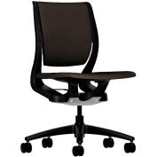 HON® HONRW103ONCU49 Purpose Armless Mid-Back Task Chair, Espresso Polyester