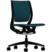 HON® HONRW103ONCU90 Purpose Armless Mid-Back Task Chair, Cerulean Polyester