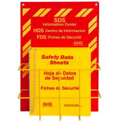 "Horizon Mfg. Tri-Lingual SDS Binder and Safety Station, 3015, 1-1/2""W Binder"