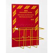 Horizon Mfg. Economy Right-To-Know Center, 3034, 3 Language Sign & Yellow Wire Rack