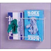 "Horizon Mfg. ""Space Saver"" Double Front Dispensing Exam Glove Rack, 8""H x 13-1/2""W x 4-1/2""D"