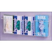 "Horizon Mfg. ""Space Saver"" Quadruple Front Dispensing Exam Glove Rack, 8""H x 27""W x 4-1/2""D"