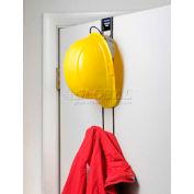 """Horizon Mfg. Over The Door 2 Hook Hard Hat Coat and Purse Rack, 5008, 3""""L X 4-3/4""""W X 19""""H"""