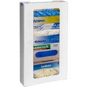 "Horizon Mfg. Quadruple Top Loading Vertical Plastic Glove Box Dispenser, 20""H x 11""W x 4""D"