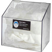 Horizon Mfg. 1-Compartment Clear Hair Net/Beard Cover/Shoe Cover/Arm Protector Dispenser